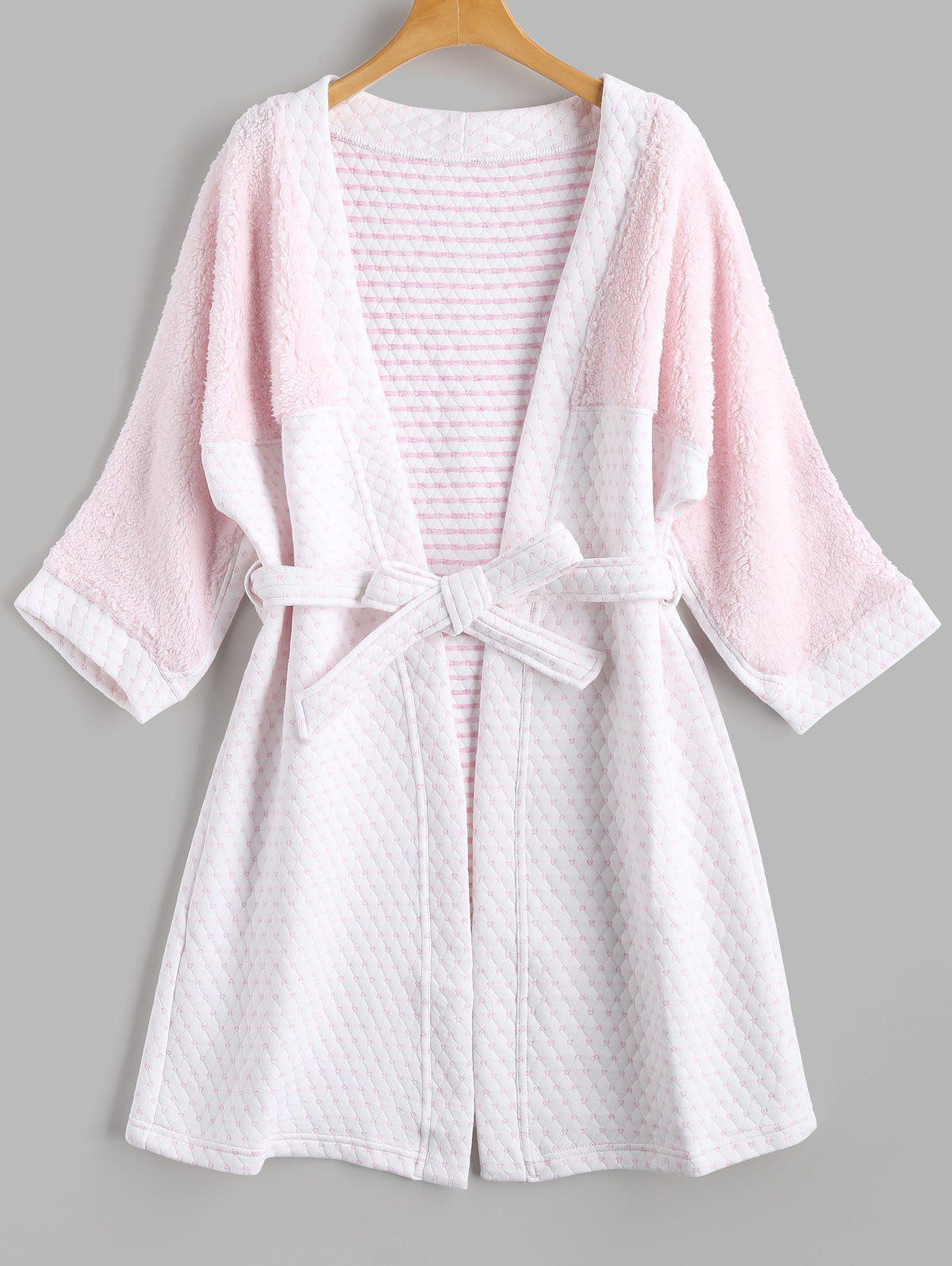 Two Tone Flannel Textured Loungewear