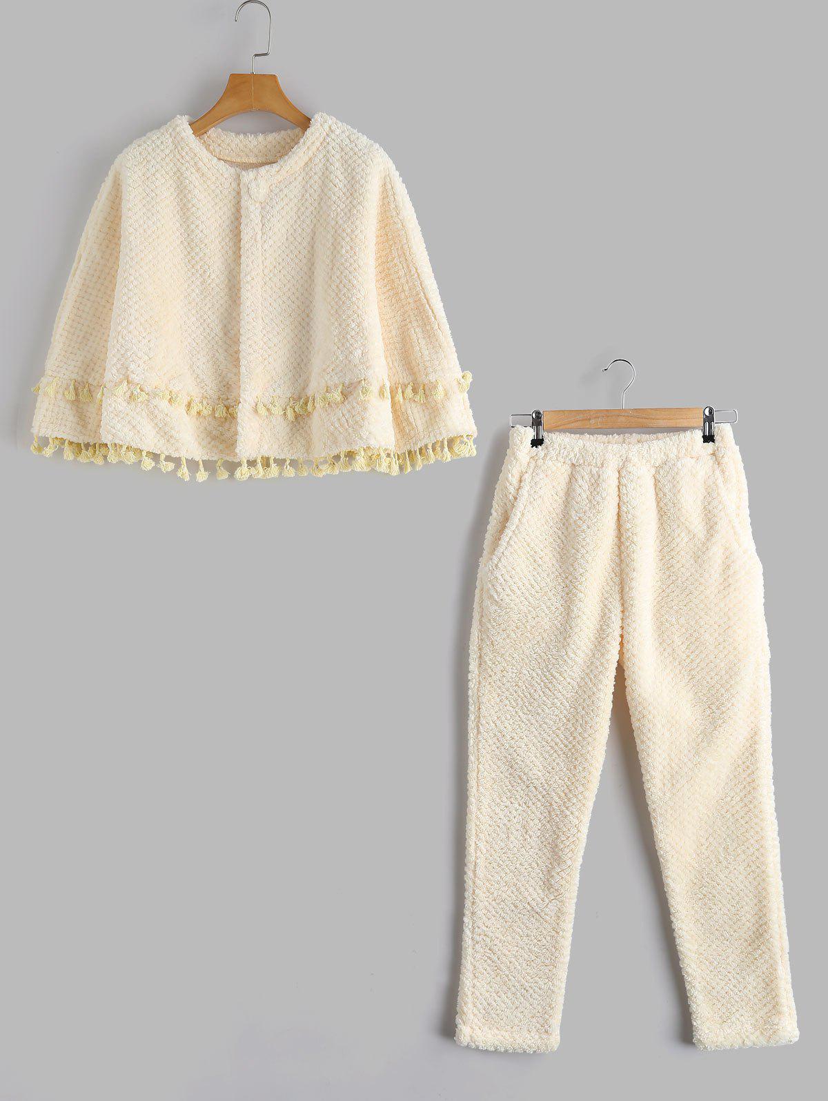 Flanel Loungwear Cape avec pantalons