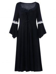Robe En Mousseline De Soie - Noir 4xl