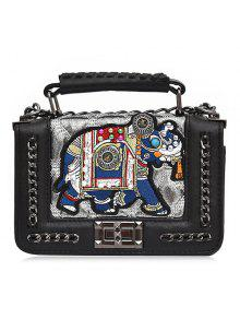 حقيبة كلاسيكية على شكل حرف (أيه) - فضة