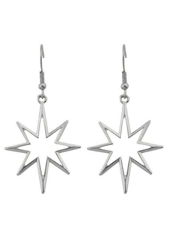 trendy Geometric Alloy Hollow Out Pendant Earrings - SILVER