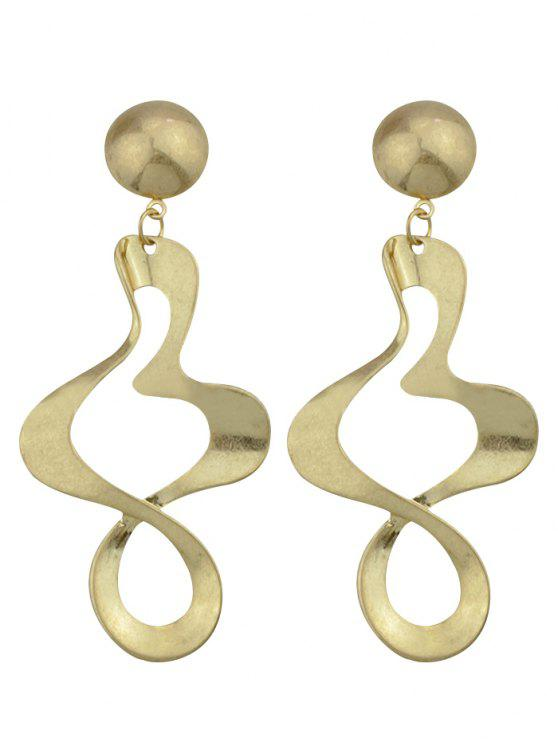 unique Irregular Alloy Hollow Out Embellished Earrings - GOLDEN
