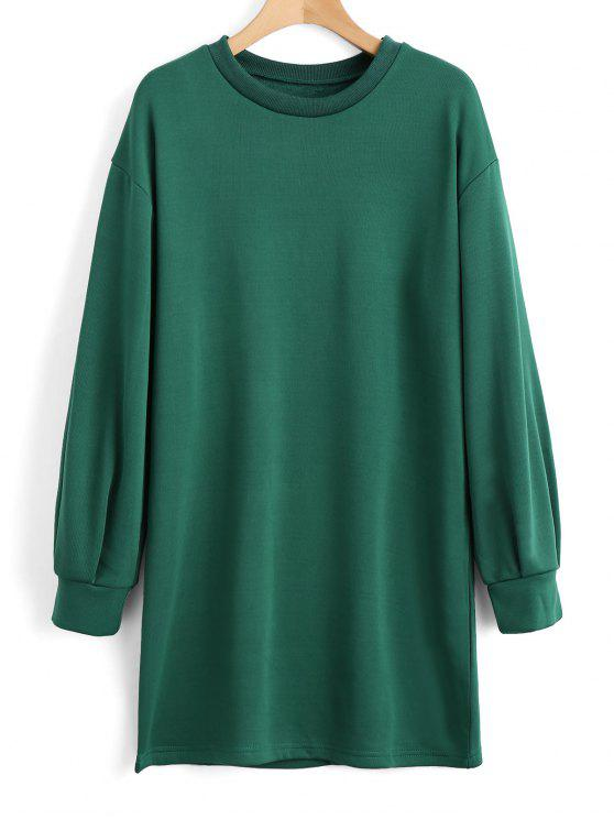 lady Long Sleeve Longline Casual Sweatshirt - GREEN S