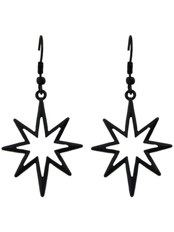 women's Geometric Alloy Hollow Out Pendant Earrings - BLACK