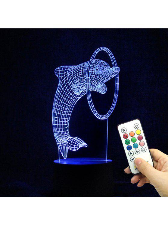 غرفة الجو 3D الصمام الدلفين اللون تغيير ليلة الخفيفة - شفاف