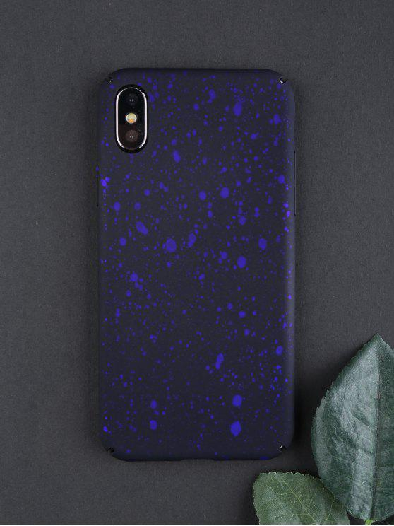 women Starry Sky Pattern Phone Case For Iphone - DEEP BLUE FOR IPHONE X