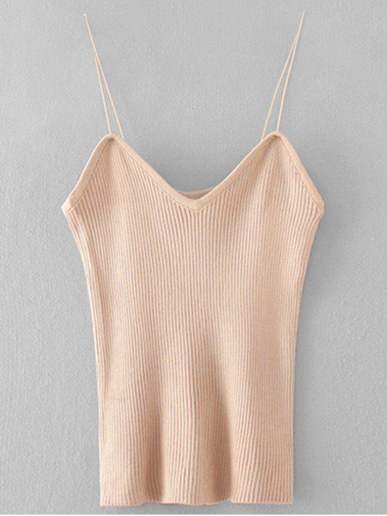 88a078280e75c9 33% OFF  2019 Cami Knitting Ribbed Tank Top In APRICOT