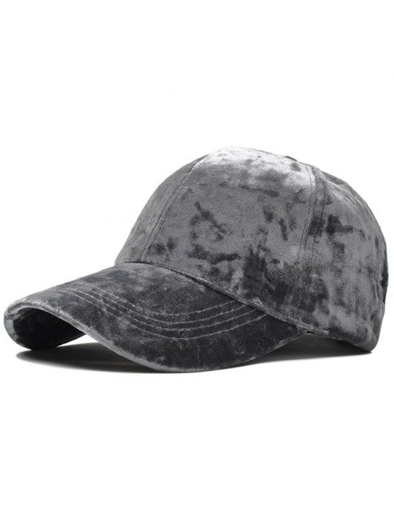 Cappello regolabile in velluto da baseball - Grigio