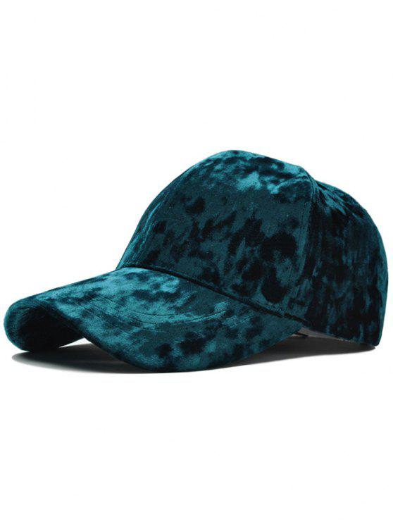 Cappello regolabile in velluto da baseball - GREEN