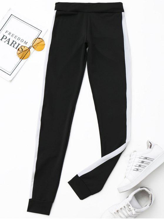Active Side Pantalones Rayados - Negro M