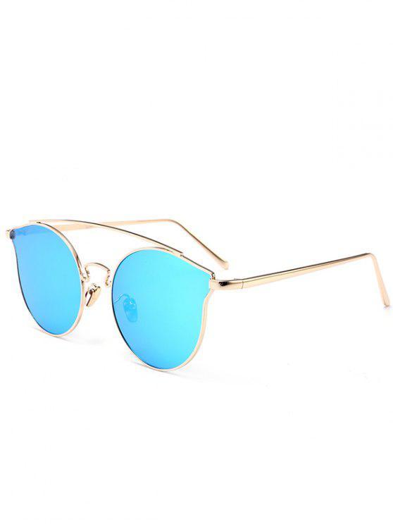 Occhiali da sole a farfalla pieno del telaio in metallo - Blu
