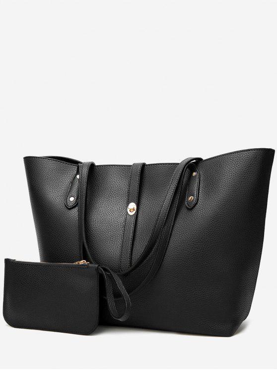 Ensemble de sac à bandoulière 2 pièces - Noir