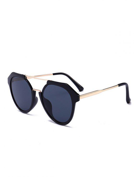 women's Metal Full Frame Crossbar Sunglasses - BLACK GREY