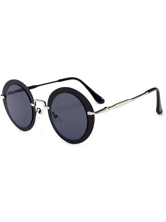 shop Outdoor Metal Full Frame Round Sunglasses - DARK GREY