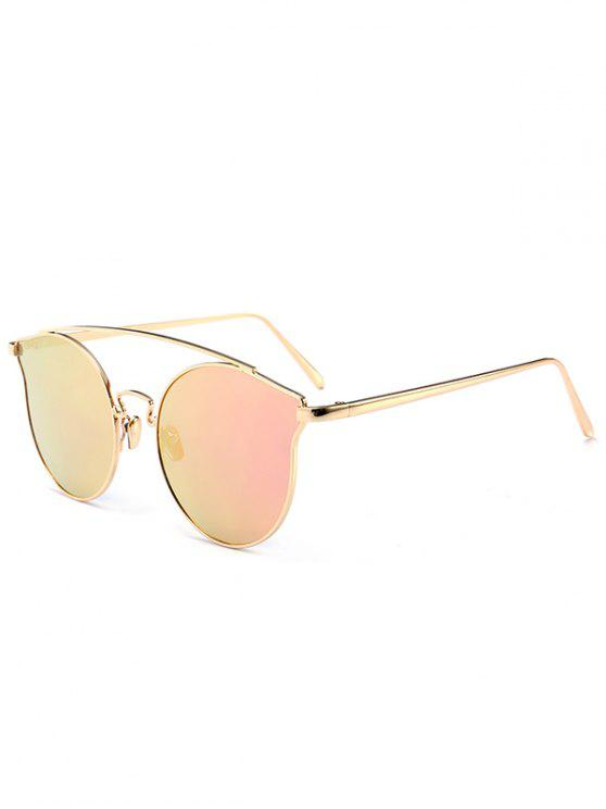 Metal Frame Full Rim Butterfly Sunglasses - Rosa