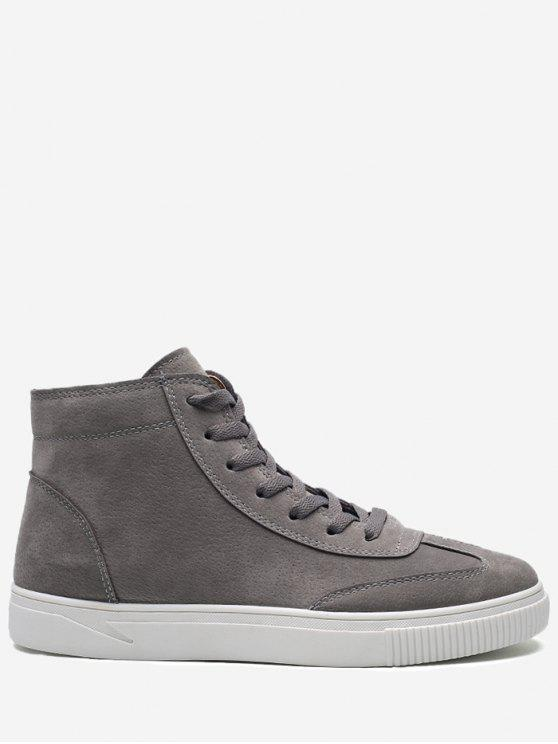 Runde Toe High-Top-Skate-Schuhe - Grau 42