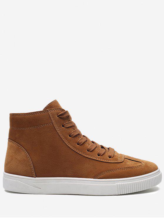 Zapatos de skate de punta redonda con punta redonda - Caqui 43