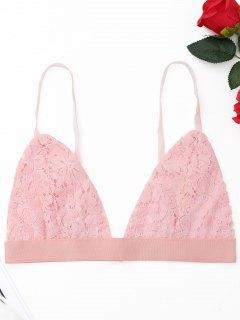 Schnürsenkel Bralette - Pink S
