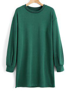 Long Sleeve Longline Casual Sweatshirt - Green S