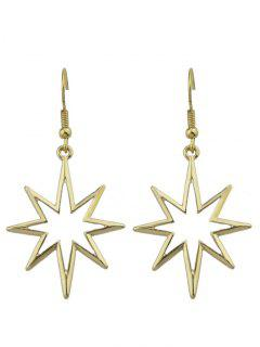 Geometric Alloy Hollow Out Pendant Earrings - Golden