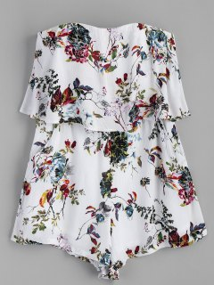 Rompecabezas Floral Sin Tirantes - Blanco L