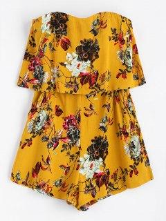 Rompecabezas Floral Sin Tirantes - Amarillo M
