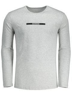 Camiseta Urbana Caliente De La Letra - Gris L
