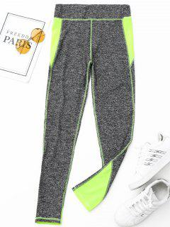 Heathered Sports Leggings - Neon Green S
