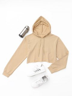 Active Cropped Hoodie - Khaki S