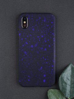 Starry Sky Pattern Phone Case For Iphone - Deep Blue For Iphone X