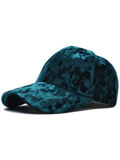 Adjustable Velvet Baseball Hat - Green