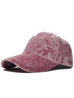 Adjustable Velvet Baseball Hat - Pink