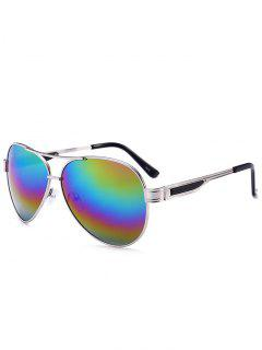 Metal Frame Crossbar Pilot Gafas De Sol - Color