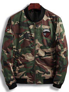 Patch Design Camouflage Bomberjacke - Braunrot M