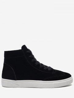 Round Toe High-top Skate Shoes - Black 43