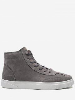 Round Toe High-top Skate Shoes - Gray 42
