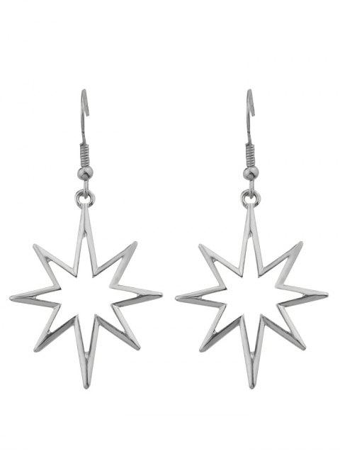 trendy Geometric Alloy Hollow Out Pendant Earrings - SILVER  Mobile