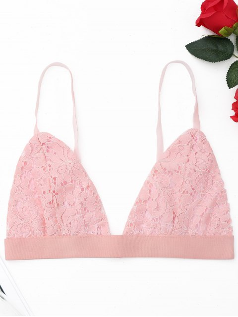 best Plunge Lace Bralette - PINK S Mobile
