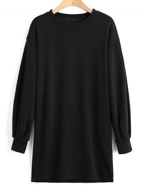 outfits Long Sleeve Longline Casual Sweatshirt - BLACK S Mobile