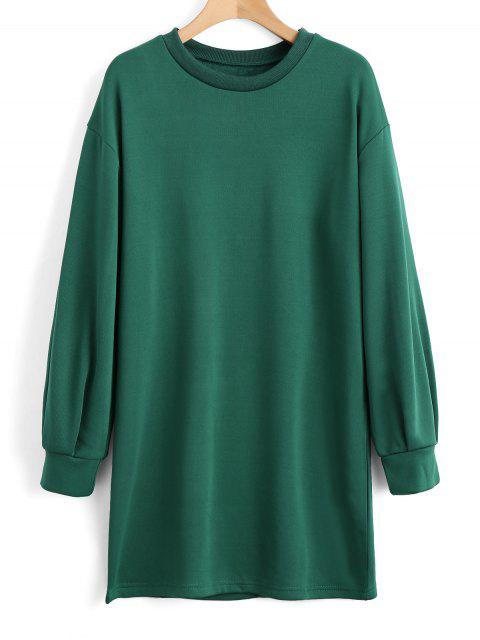 women's Long Sleeve Longline Casual Sweatshirt - GREEN M Mobile