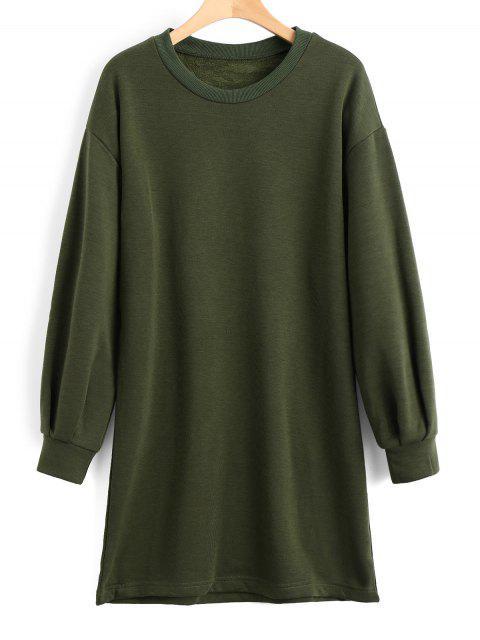 chic Long Sleeve Longline Casual Sweatshirt - ARMY GREEN L Mobile