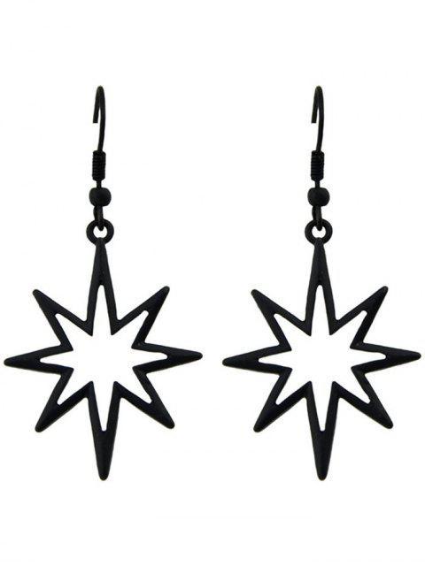 women's Geometric Alloy Hollow Out Pendant Earrings - BLACK  Mobile