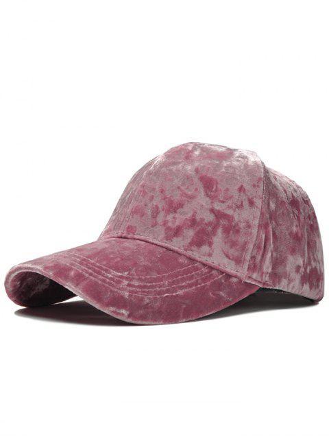 Chapeau de baseball réglable en velours - ROSE PÂLE  Mobile