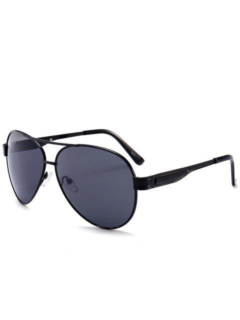 Metal Frame Crossbar Pilot Gafas de sol - Negro Gris  Mobile