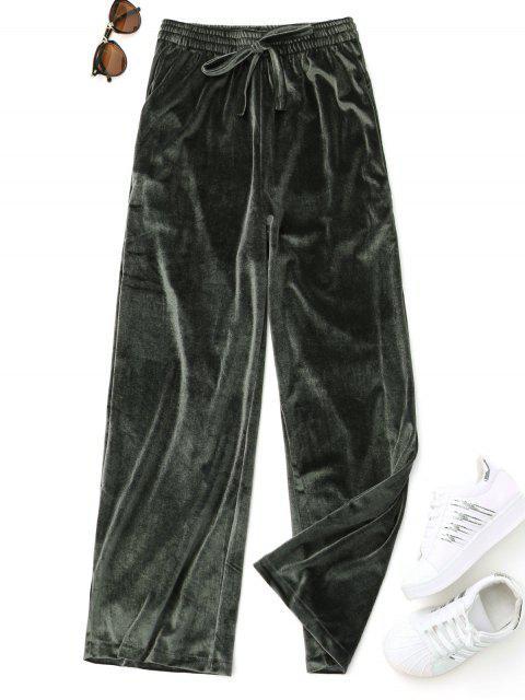 Lässige Samt Samt Hose - Grün Eine Größe Mobile