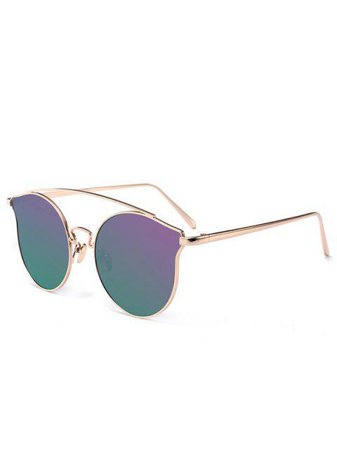 Gafas de sol de mariposa de borde completo de metal - Púrpura  Mobile