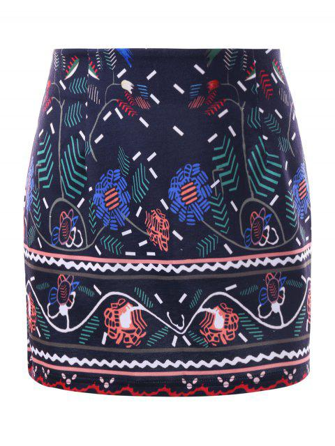 womens Graphic Tight Micro Skirt - DEEP BLUE XL Mobile