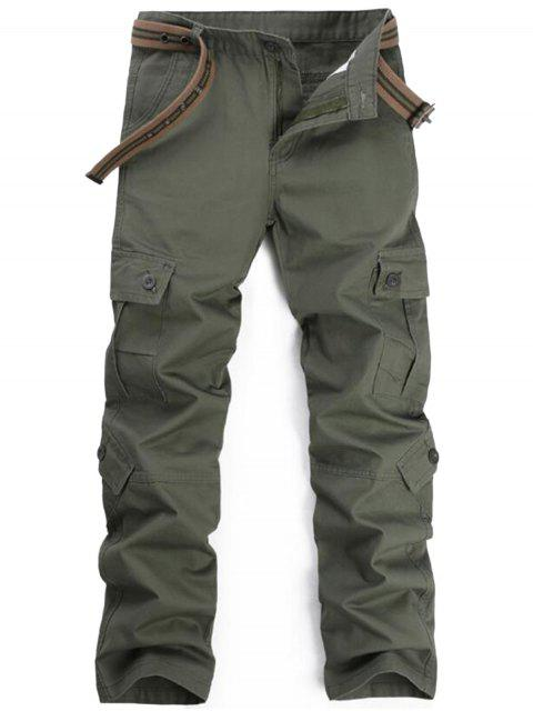 trendy Zipper Fly Pockets Cargo Pants - ARMY GREEN 36 Mobile