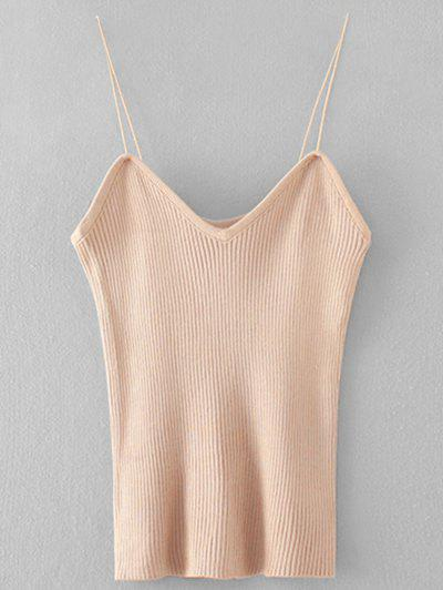 Ribbed Cami Knitted Tank Top
