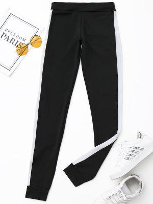 Active Side Striped Pants - Black S